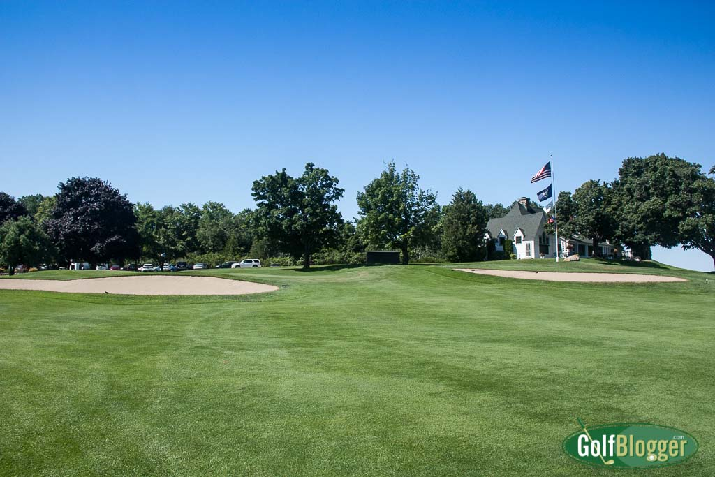 A view of the green on the ninth hole at Belvedere.