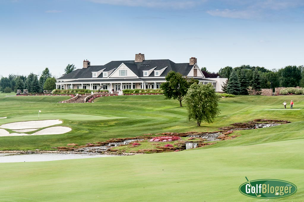 A view of the clubhouse from the twelfth fairway