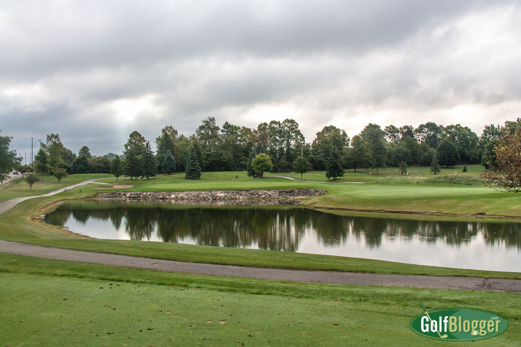 A view from the 192 yard back tees at the par 3 sixth at Tanglewood North