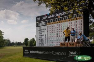 At the end of the first day, Christina Kim lead the Volvik Championship at eight under.