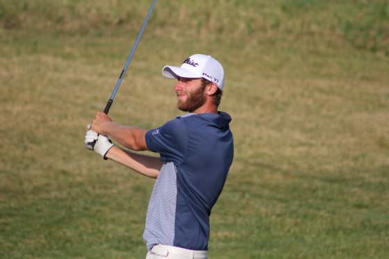 Austin Eccleton, coleader after the first round at the 105th Michigan Amateur