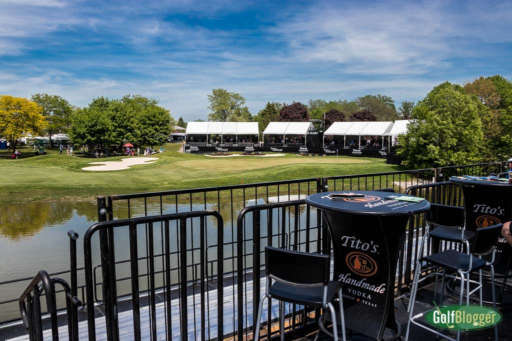 The view from the Titos Vodka Grandstands at the LPGA Volvik Championship in Ann Arbor, Michigan.